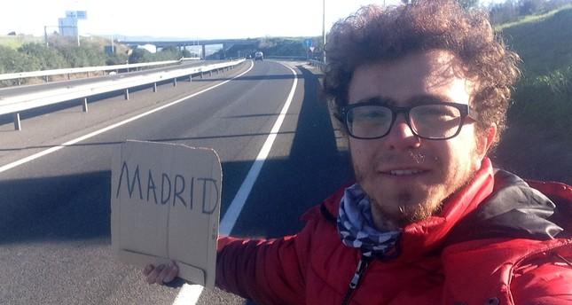 Hitchhiking university student globe trotter