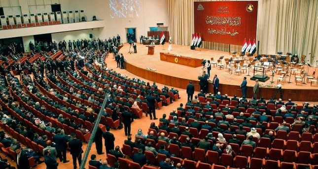 A picture taken on September 3, 2018 shows a general view of the Iraqi parliament during a meeting in the capital Baghdad. (AFP Photo)