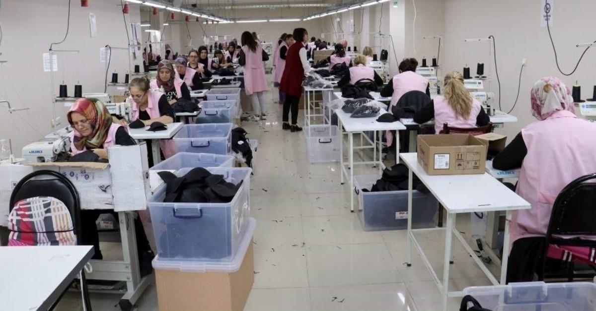 Women work at a textile workshop, K?rklareli, Jan. 2, 2020. (AA Photo)