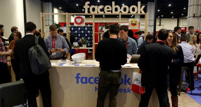 People stop at the Facebook booth at the Conservative Political Action Conference (CPAC) at National Harbor, Maryland, U.S., February 23, 2018. (REUTERS Photo)