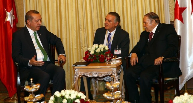 President Erdoğan (L) speaks to Algerian President Abdelaziz Bouteflika (R) during his first visit to Algeria as president, Nov. 19-20, 2014.