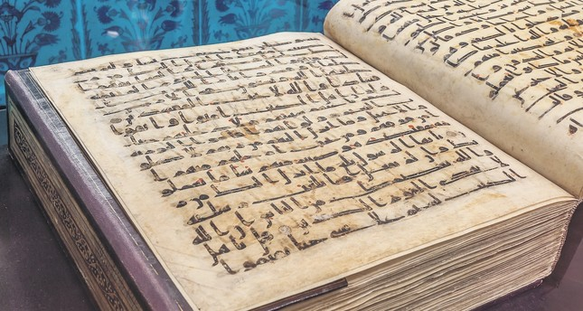 One of the old Qurans displayed at the Topkapı Palace.