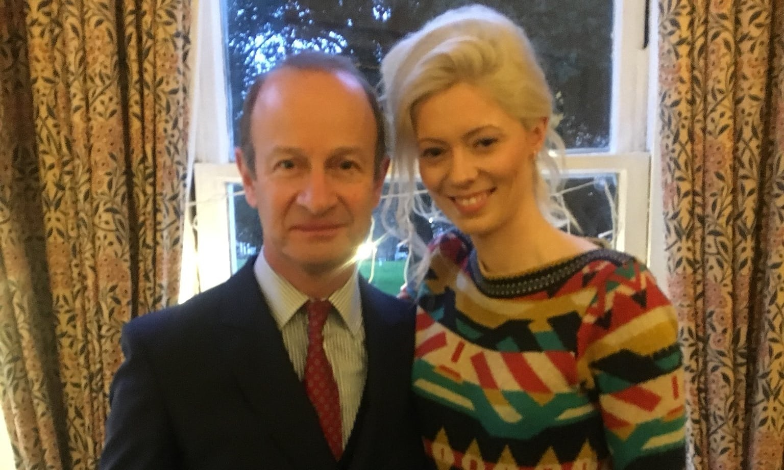 UKIP leader Henry Bolton and his 25-year-old girlfriend Jo Marney. (Source: Twitter)