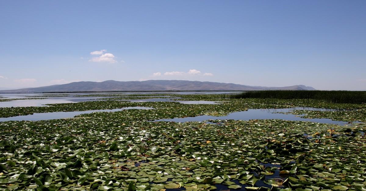 Natural protected site of Lake Iu015fu0131klu0131 in Denizli.
