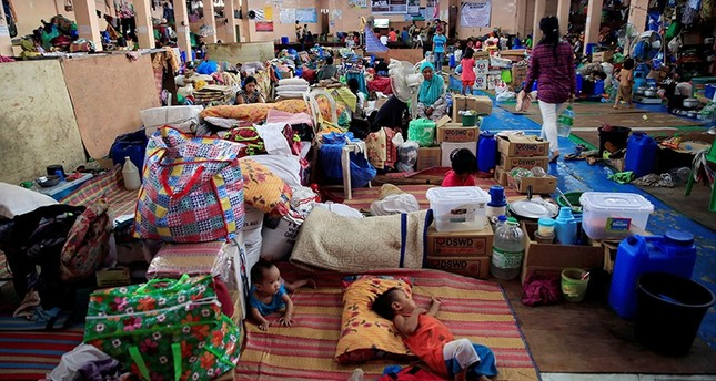 Evacuees stay inside an evacuation centre, as government troops continues their operations against pro-Daesh militants which seized Marawi city Reuters Photo
