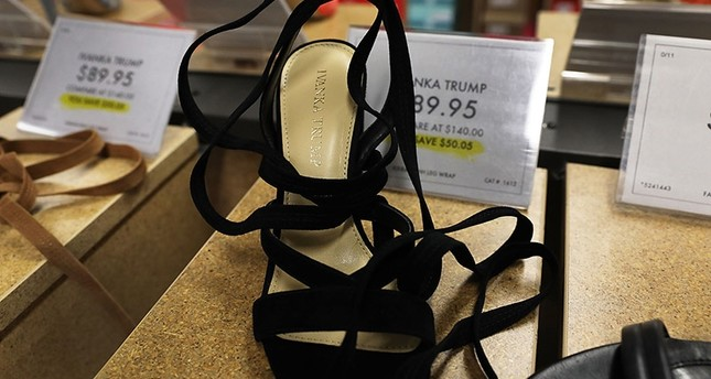 Women's shoes by the Ivanka Trump fashion brand sit for sale at a Manhattan retailer on June 1, 2017 in New York City. (AFP Photo)