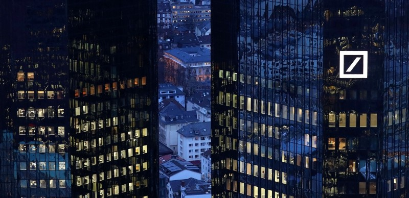 The headquarters of Germany's Deutsche Bank are seen early evening in Frankfurt, Germany Jan. 31, 2017. (Reuters Photo)