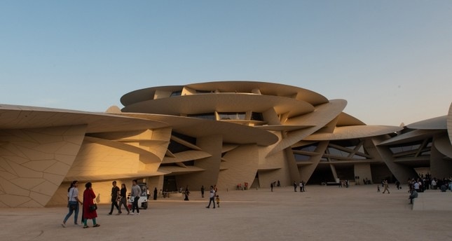 متحف قطر الوطني الذي شارك نائب الرئيس التركي في افتتاحه (الفرنسية)