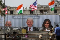 India scrambles to give Trump a mega-rally