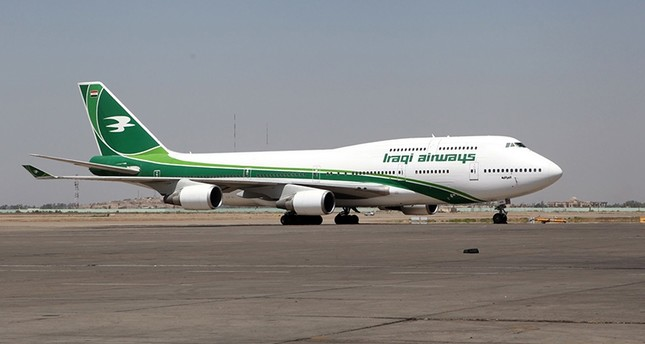 This file photo taken on Aug. 05, 2014 shows an Iraqi Airways Boeing 747 sitting at Baghdad International Airport, Iraq. (AFP photo)