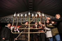 Hanukkah candles illuminate synagogues, Istanbul park