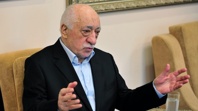 Fetullah Gülen, the leader of the FETÖ, speaks to media two days after the July 15, 2016 coup attempt. Gülen who lives in the United States, controls a large number of followers all across the globe.