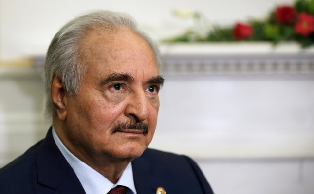 Libya's commander Khalifa Haftar meets Greek Foreign Minister Nikos Dendias not pictured at the Foreign Ministry in Athens, Greece, January 17, 2020. Reuters Photo