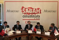 At an event held at the Moscow Journalists House, Turkish journalists, columnists, Russian politicians, representatives of think tanks, business and civic society representatives and Russian...