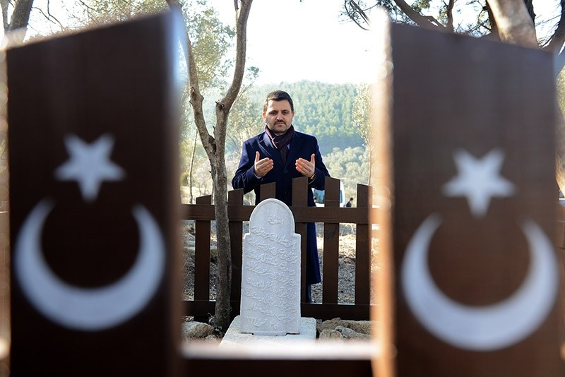The tomb of Sergeant Mehmet has been discovered 102 years after his death in u00c7anakkale, Turkey. Feb. 2, 2017. (AA Photo)