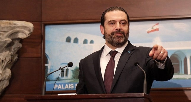 Lebanese Prime Minister Saad Hariri addressed the media after announcing the new cabinet during a press conference at the presidential palace in Baabda, east of the capital Beirut, on Jan. 31, 2019. (AFP Photo)