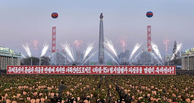 A view of celebrations at Kim Il-sung Square on December 1, in this photo released by North Korea's Korean Central News Agency (KCNA) in Pyongyang December 2, 2017. (Reuters Photo)