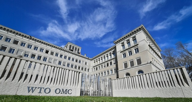 The World Trade Organization WTO headquarters are seen in Geneva on April 12, 2018. AFP Photo