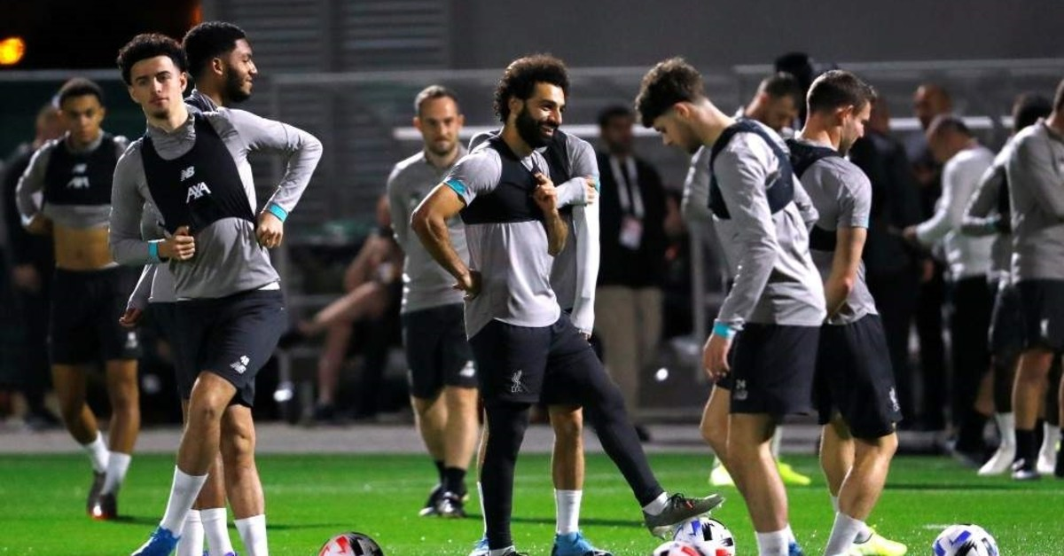 Liverpool's Mohamed Salah during training, Doha, Dec. 16, 2019. (Reuters Photo)