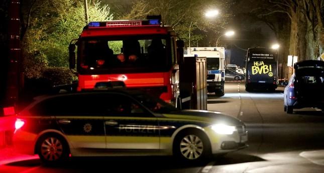 Team bus of Borussia Dortmund was hit by three explosions in Dortmund, Germany, April 11. (EPA Photo)