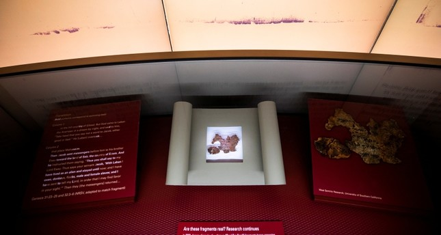 متحف الكتاب المقدس في واشنطن حيث تم سحب بعض القطع المزيفة (EPA)
