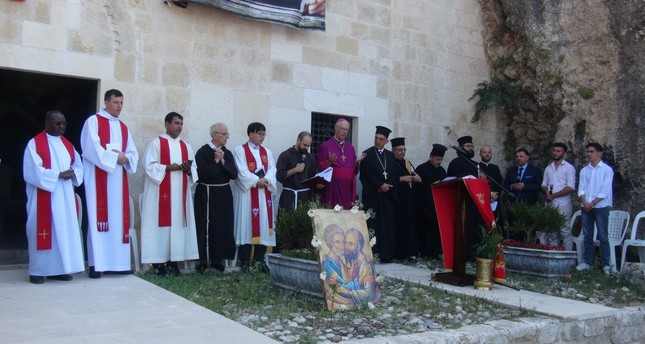 Catholic and Orthodox clergy came together to mark the day at the historic Antakya church.