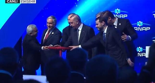 تركيا تبدأ بتشغيل خط غاز تاناب وأردوغان يصفه بـطريق الحرير للطاقة