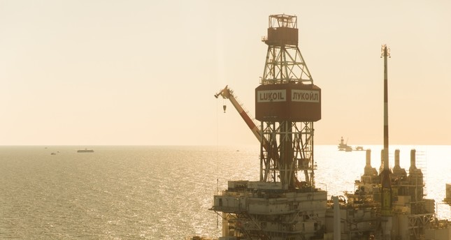 Lukoil's V. Filanovsky offshore oil field in the Caspian Sea.