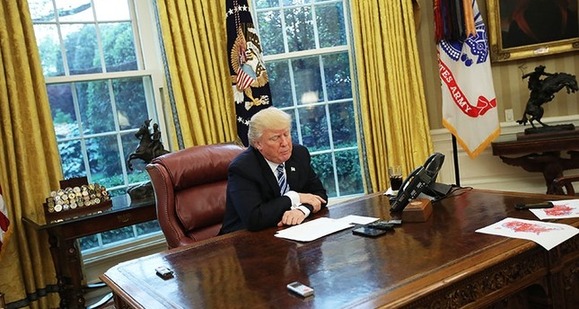 U.S. President Donald Trump speaks during an interview with Reuters in the Oval Office of the White House in Washington, U.S., April 27, 2017. (Reuters Photo)