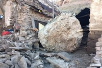 Family escapes death as 10-ton rock falls on house in Turkey's Konya