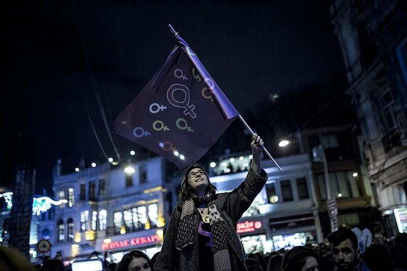 Stronger together: Turkish women march in Taksim to mark International Women's Day