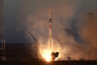 Soyuz spacecraft with 3 astronauts successfully docks with International Space Station