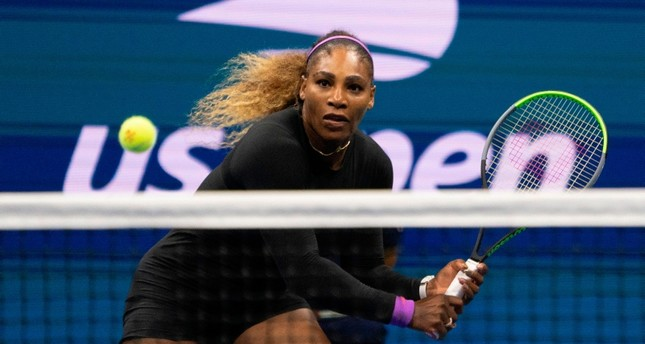 Serena Williams of the US hits a return to Elina Svitolina of the Ukraine during their Singles Women's Semi-finals match at the 2019 US Open at the USTA Billie Jean King National Tennis Center in New York on September 5, 2019. AFP Photo
