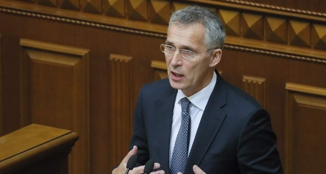 NATO Secretary-General Jens Stoltenberg addresses Ukrainian lawmakers at a Plenary Session of the Parliament in Kyiv, Ukraine, Oct. 31, 2019. EPA Photo