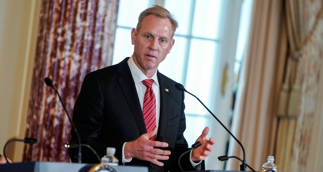 Acting U.S. Secretary of Defense Patrick Shanahan speak to the media at the State Department in Washington, U.S., April 19, 2019. (Reuters Photo)