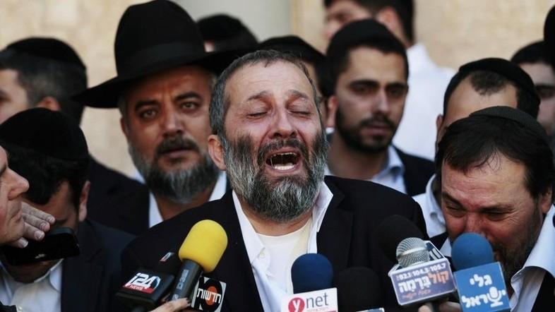 Aryeh Deri 'mourns' Yosef's death. (REUTERS Photo)