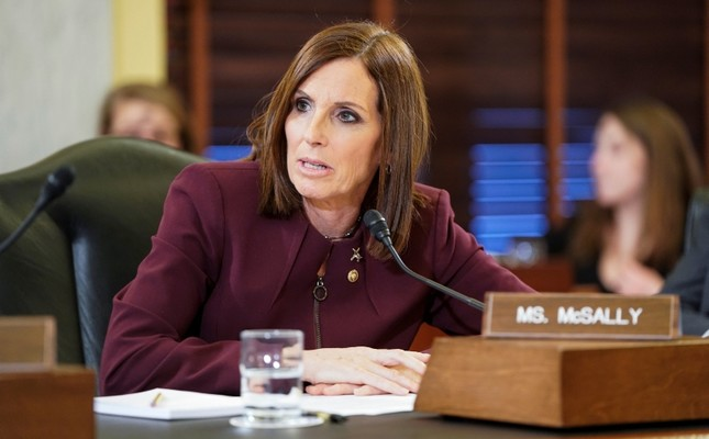 Sen. Martha McSally, R-Ariz., recounts her experience with sexual assault while serving as a colonel in the Air Force on Capitol Hill in Washington, Wednesday, March 6, 2019. (Reuters Photo)