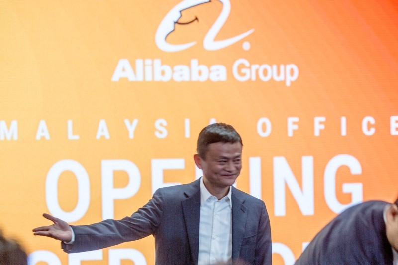 Jack Ma, the founder and executive chairman of Chinese e-commerce company Alibaba Group gestures during the opening of the Alibaba group office in Kuala Lumpur, Malaysia, June 18, 2018. (EPA Photo)