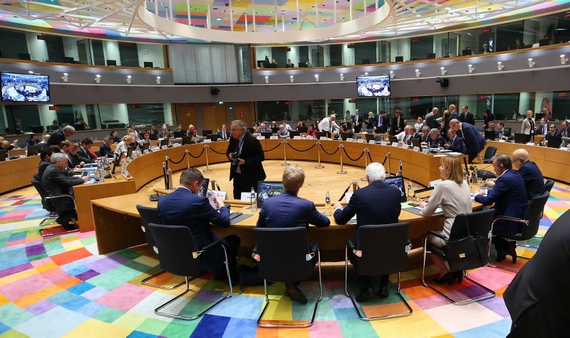 Lawmakers in Brussels gathering for a session on Brexit (AA Photo)