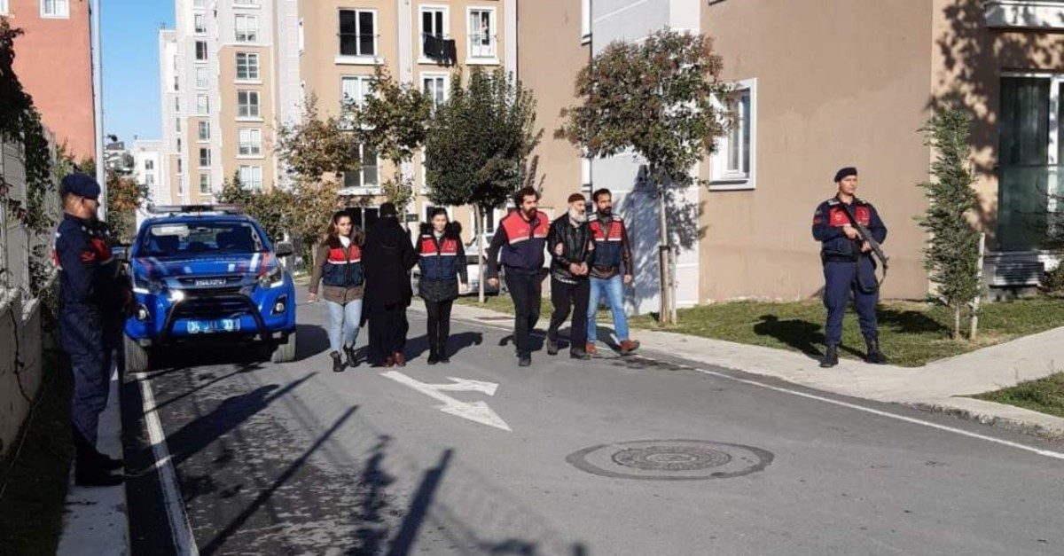 Turkish security forces detained seven more suspects who are believed to be members of the Daesh terror group in an operation conducted in five provinces, Nov. 3, 2019. DHA