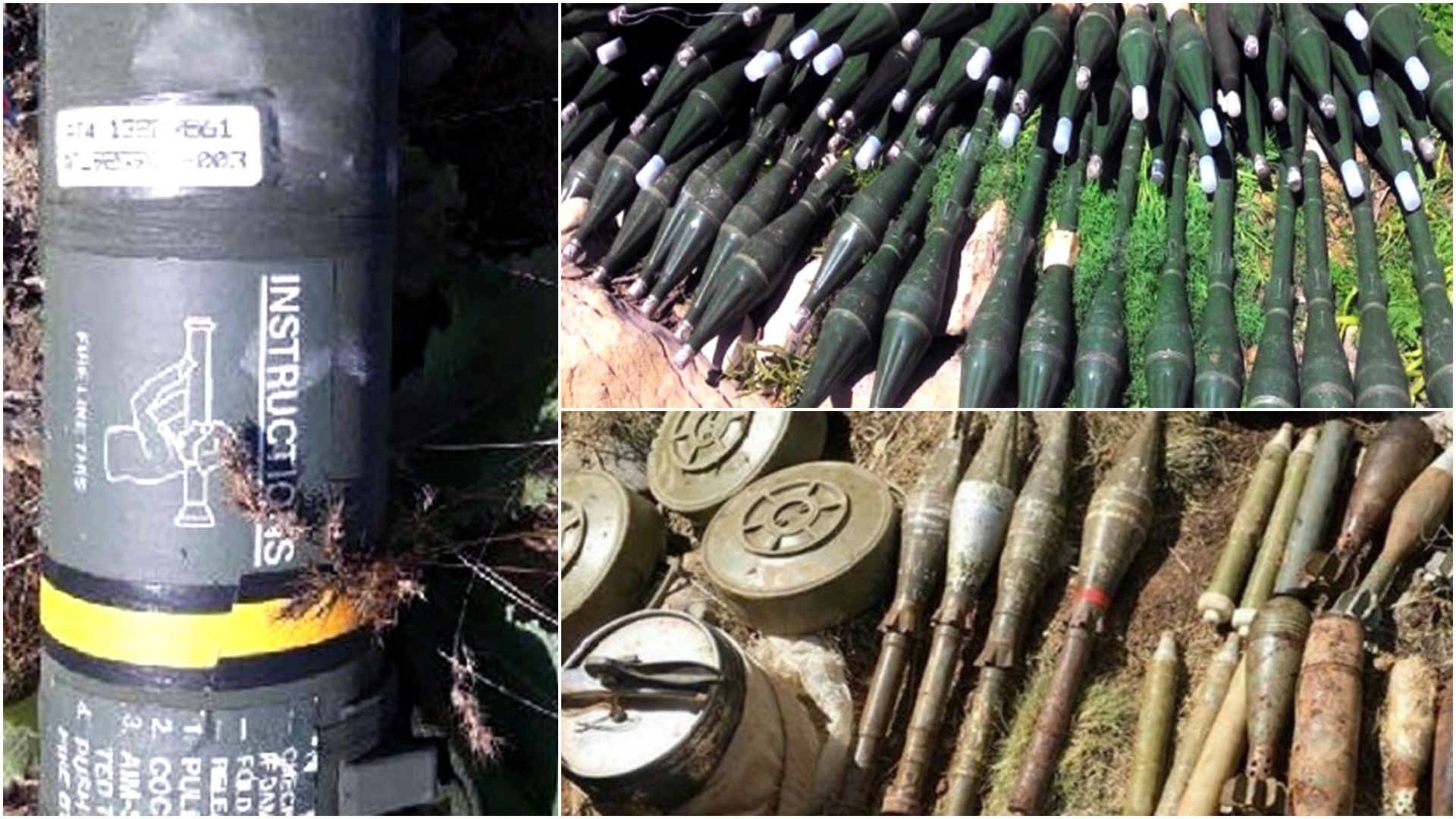 The photos show the weapons obtained from deceased PKK militants in southeast Turkey.