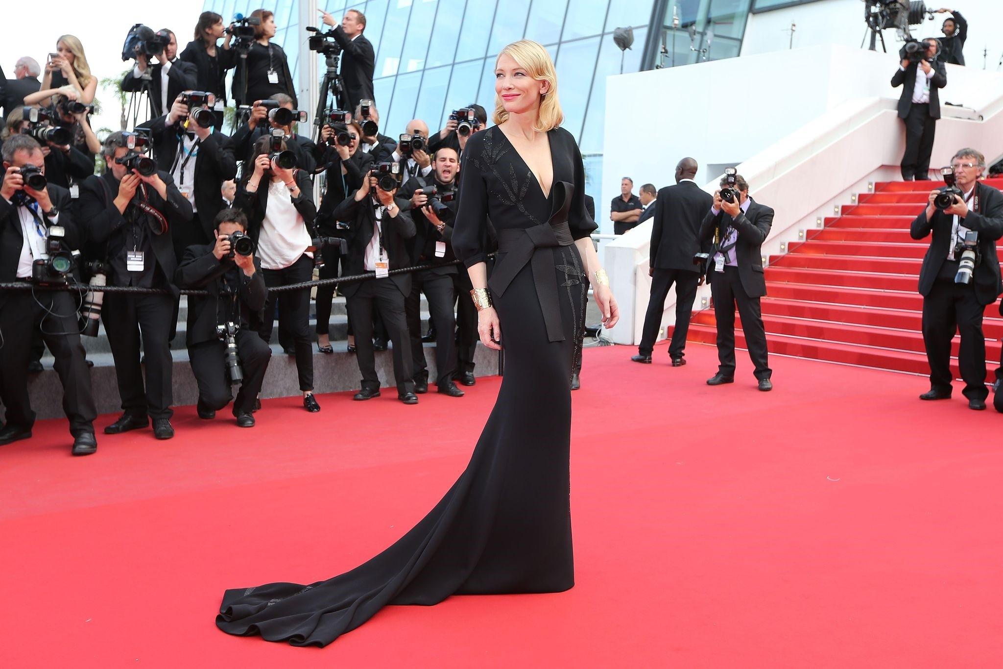 This file photo taken on May 19, 2015 shows Australian actress Cate Blanchett posing as she arrives for the screening of the film 'Sicario' at the 68th Cannes Film Festival in Cannes. (AFP Photo)