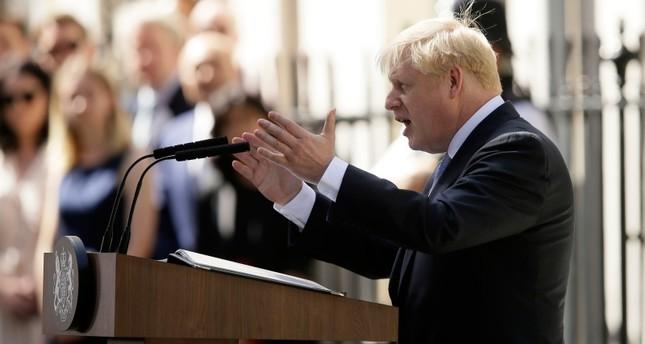 Britain's new Prime Minister Boris Johnson speaks outside 10 Downing Street, London, Wednesday, July 24, 2019. (AP Photo)