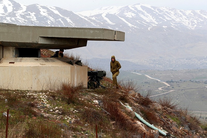 An Israeli soldier walks near a military post close to the Druze village of Majdal Shams in the Israeli-occupied Golan Heights, Israel February 10, 2018. (Reuters Photo)