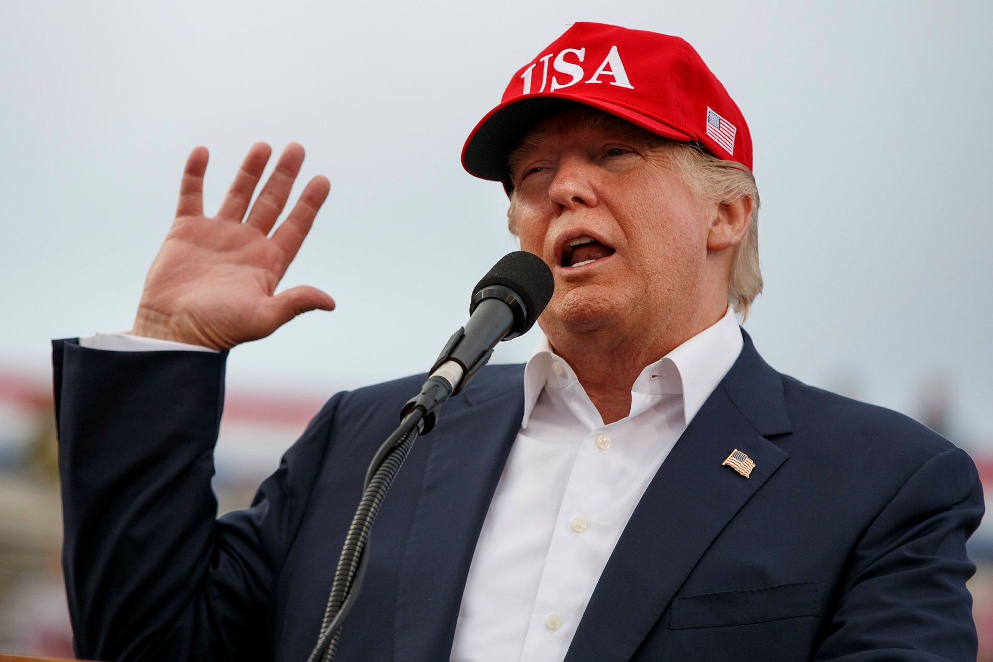 FIn this Saturday, Dec. 17, 2016 file photo, then-President-elect Donald Trump speaks during a rally at Ladd-Peebles Stadium in Mobile, Alabama (AP Photo)
