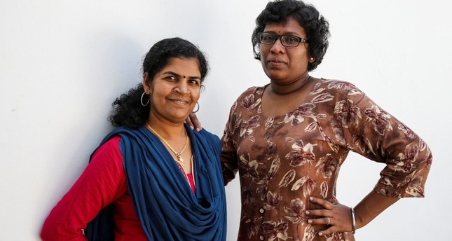 Kanaka Durga, 39 (L) and Bindu Ammini, 40, the first women to enter Sabarimala temple which traditionally bans the entry of women of menstrual age, pose for a photo, India, January 10, 2019. (Reuters Photo)