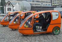 Green 'cab-bikes' draw attention in Lüleburgaz