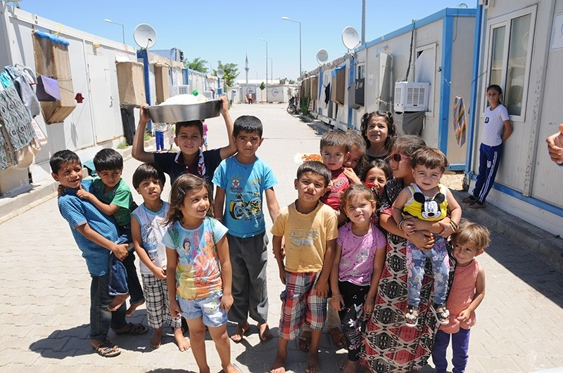 Syrian migrant children at a refugee camp in southern Turkey (Sabah File Photo