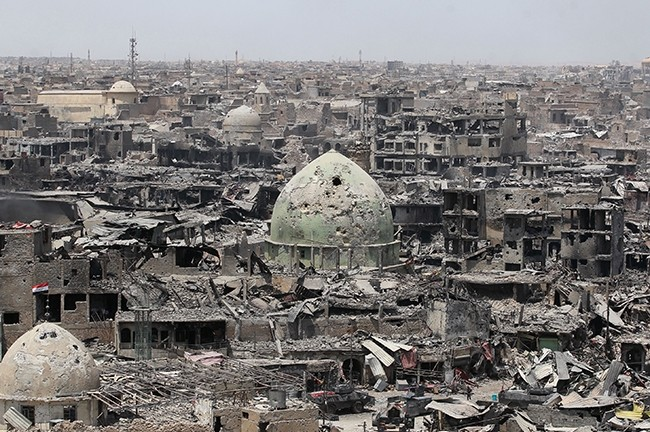 A picture taken on July 9, 2017, shows a general view of the destruction in Mosul's Old City. (AFP Photo)