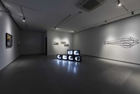 Camera scrutinized as an eye in art show